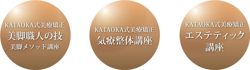 KATAOKA式美療矯正 美脚職人の技 美脚メソッド講座 KATAOKA式美療矯正 気療整体講座 KATAOKA式美療矯正 エステティック 講座